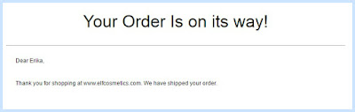More than a week later, my e.l.f. Cosmetics order has finally shipped