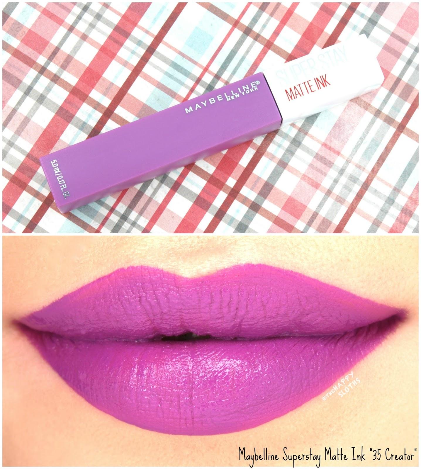 Longest Wearing Liquid Lipsticks Maybelline Superstay Matte Ink