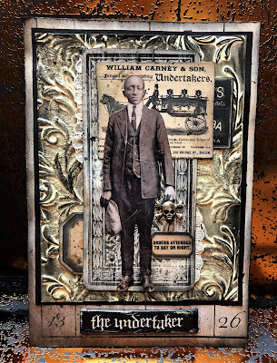 Sara Emily Barker https://sarascloset1.blogspot.com/2018/10/the-undertaker-and-little-giveaway.html Halloween Card with Tim Holtz Giveaway 1