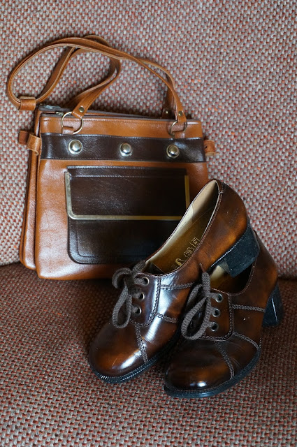 70s  chunky brown oxford two tone bag 1970s mod skinhead