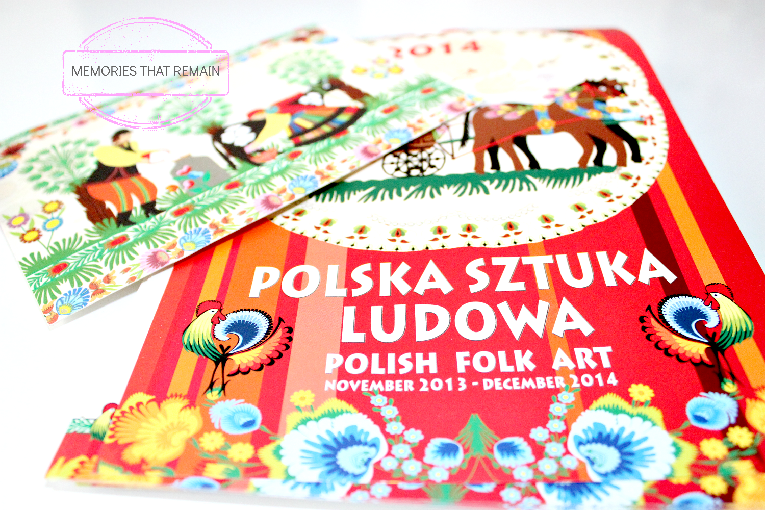 calendar with polish folklor