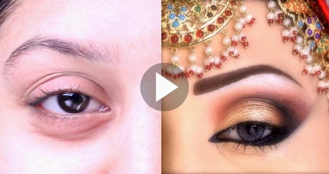 South Bridal Eye Makeup Tutorial : Bridal Party Eyes Makeup Tutorial By Kashees Beauty ...