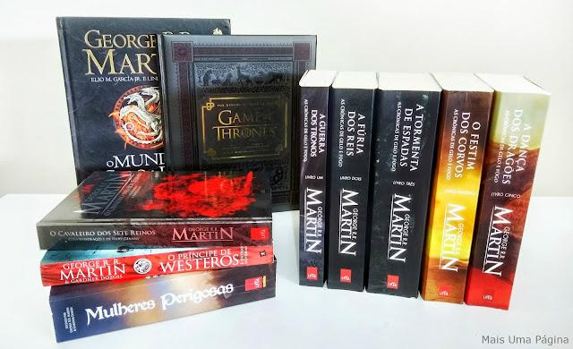 Livros de As Crônicas de Gelo e Fogo e outros que se relacionam