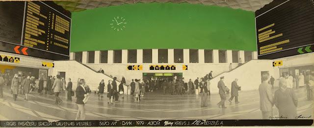 Jānis Krievs, Rīgas Centrālās dzelzceļa stacijas rekonstrukcijas projekts. Skices un vizualizācija, 1979.