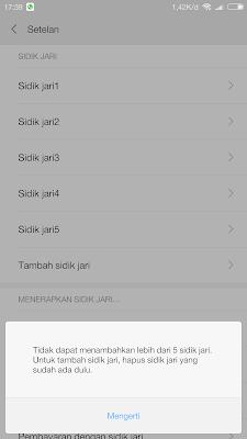 Bisakah Daftar Fingerprint di Smartphone Xiaomi Lebih dari 5 Kali Tanpa Root Tested Mi5 PRO