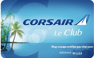 Carte de fidélité le Club Corsair