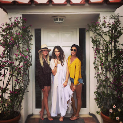Ashley Benson, Shay Mitchell and Troian Bellisario in Capri, Italy for Troian's bachelorette party