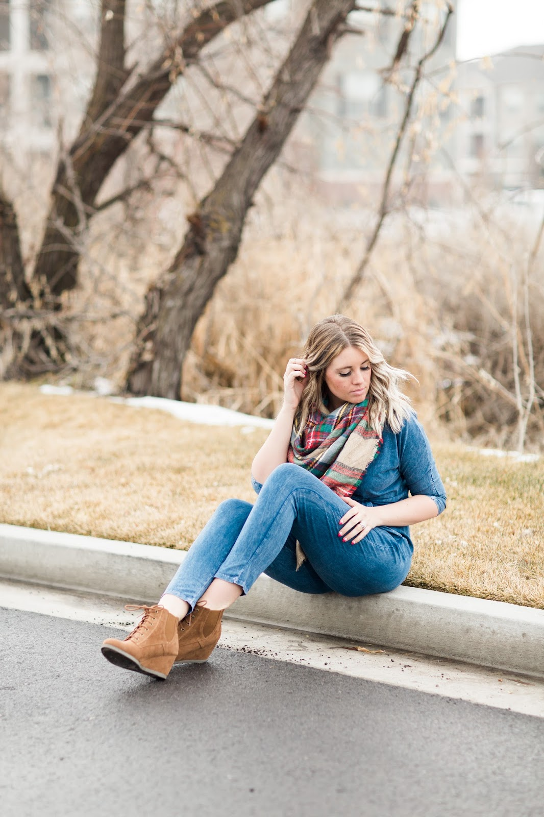 Denim Jumpsuit, Utah Fashion Blogger, Modest Fashion Blogger