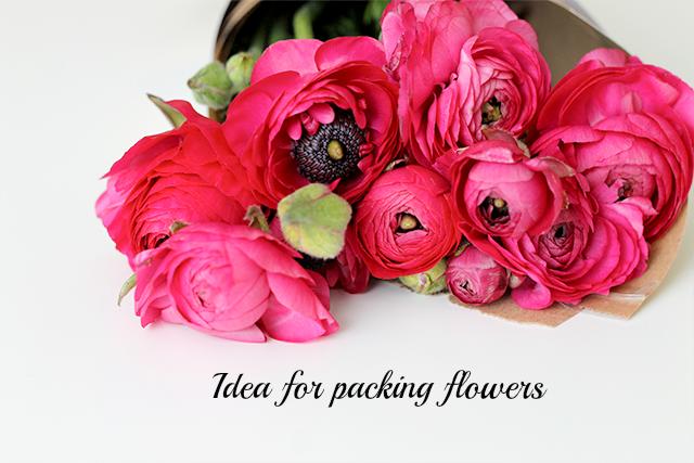 opakowane kwiaty