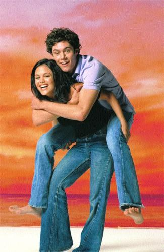 rachel bilson summer lifts adam brody seth in the air promo oc photo