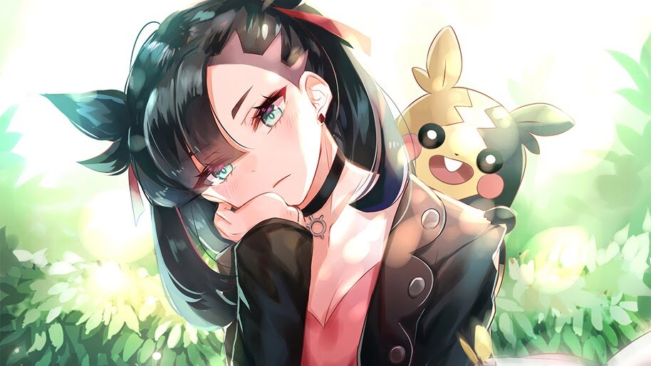 Marnie, Morpeko, Gym Leader, Pokemon Sword and Shield, 4K, #3.1397