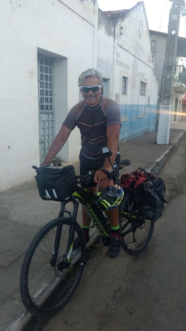 Expedito Costa, o ciclista Mucambense que saiu de Samambaia-DF chega a Mucambo.