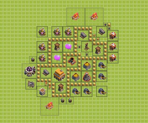 Clash of Clans Town Hall 5 Hybrid Type