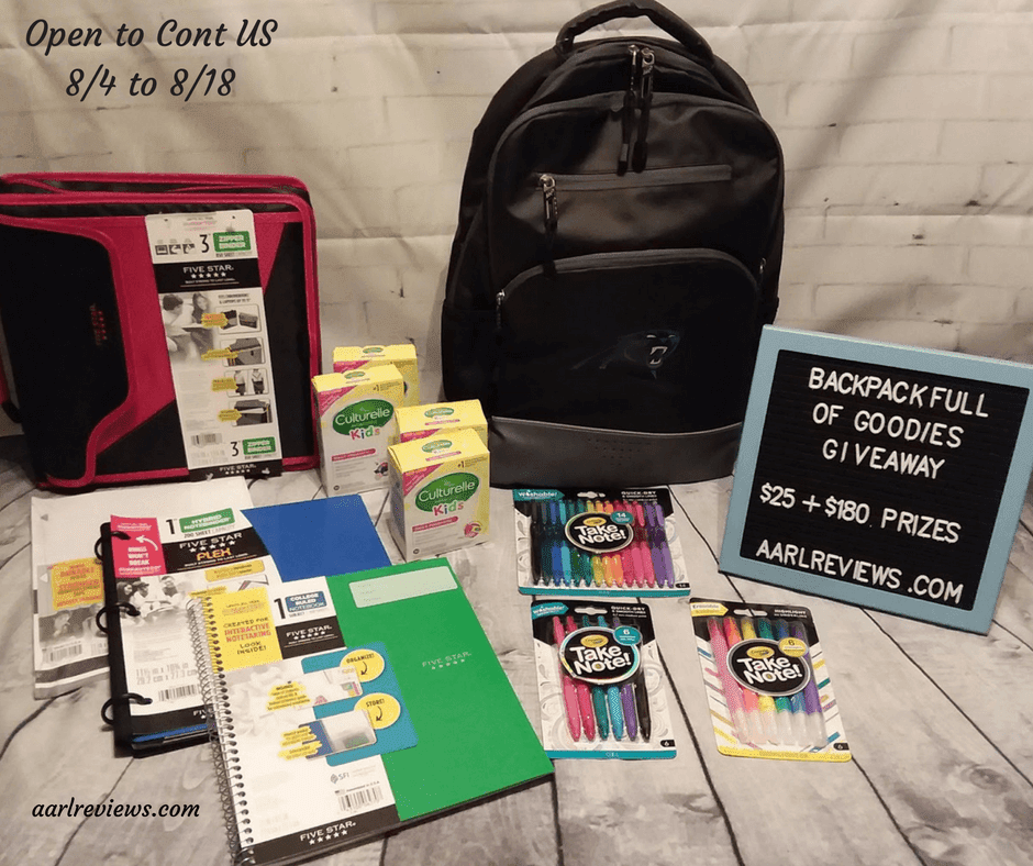 Backpack Full Of Goodies Giveaway ($25 PayPal+)