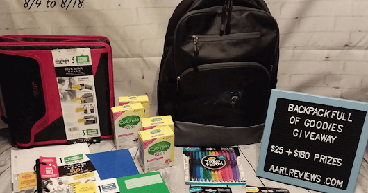 Backpack Full Of Goodies Giveaway