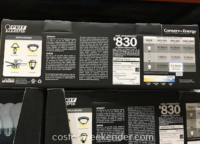 Costco 1090268 - Feit LED 60w Replacement Daylight Bulbs - great for any home