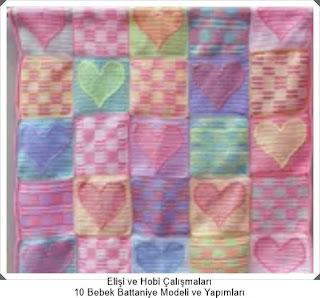 Örgü Bebek Battaniye Modelleri - Tığ işi Battaniye Modelleri 9
