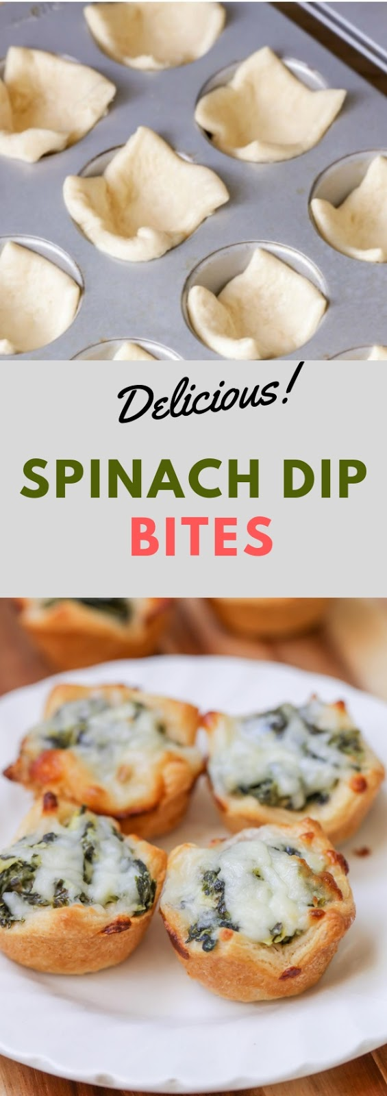 Spinach Dip Bites #appetizer #spinach #dip #bites