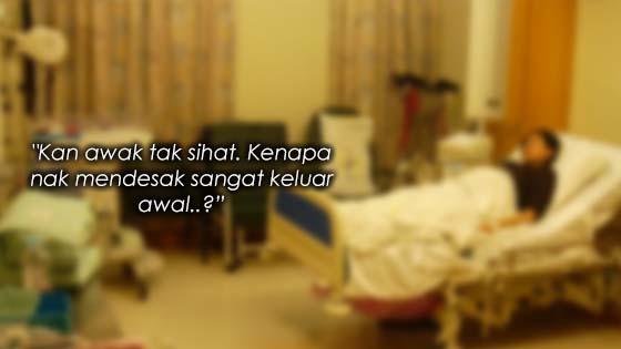 Alasan Wanita Mahu Discharge Awal Dari Wad Buat Ramai Menangis