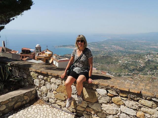 panorama sul golfo di Naxos dal castello di Castelmola