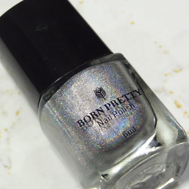 BornPrettyStore | Silver Holographic Stamping Polish