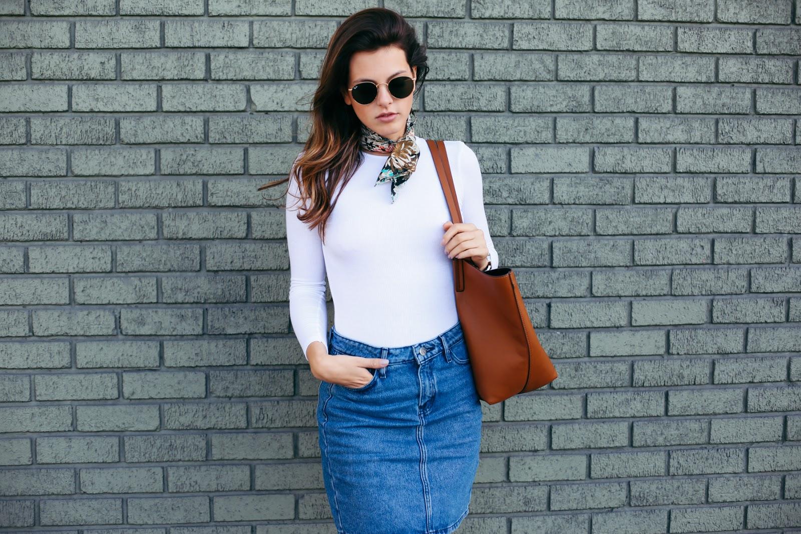 Classic Denim Mini Skirt | LOVE FROM JACKIE