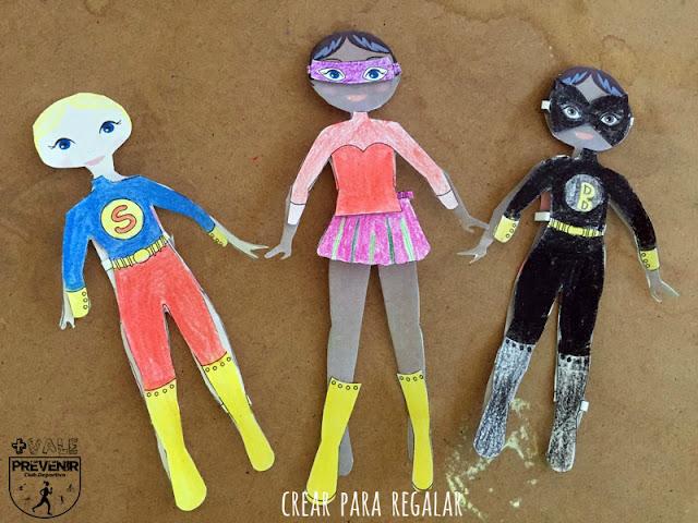 recortables muñecas superheroes