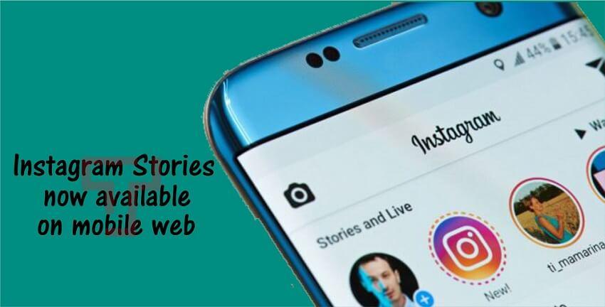 Instagram Stories Mobile Web
