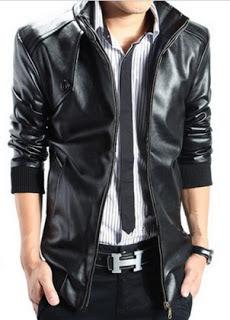 Gambar Jaket kulit sintetis pria