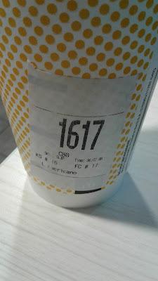 McDonald's Large Americano order label