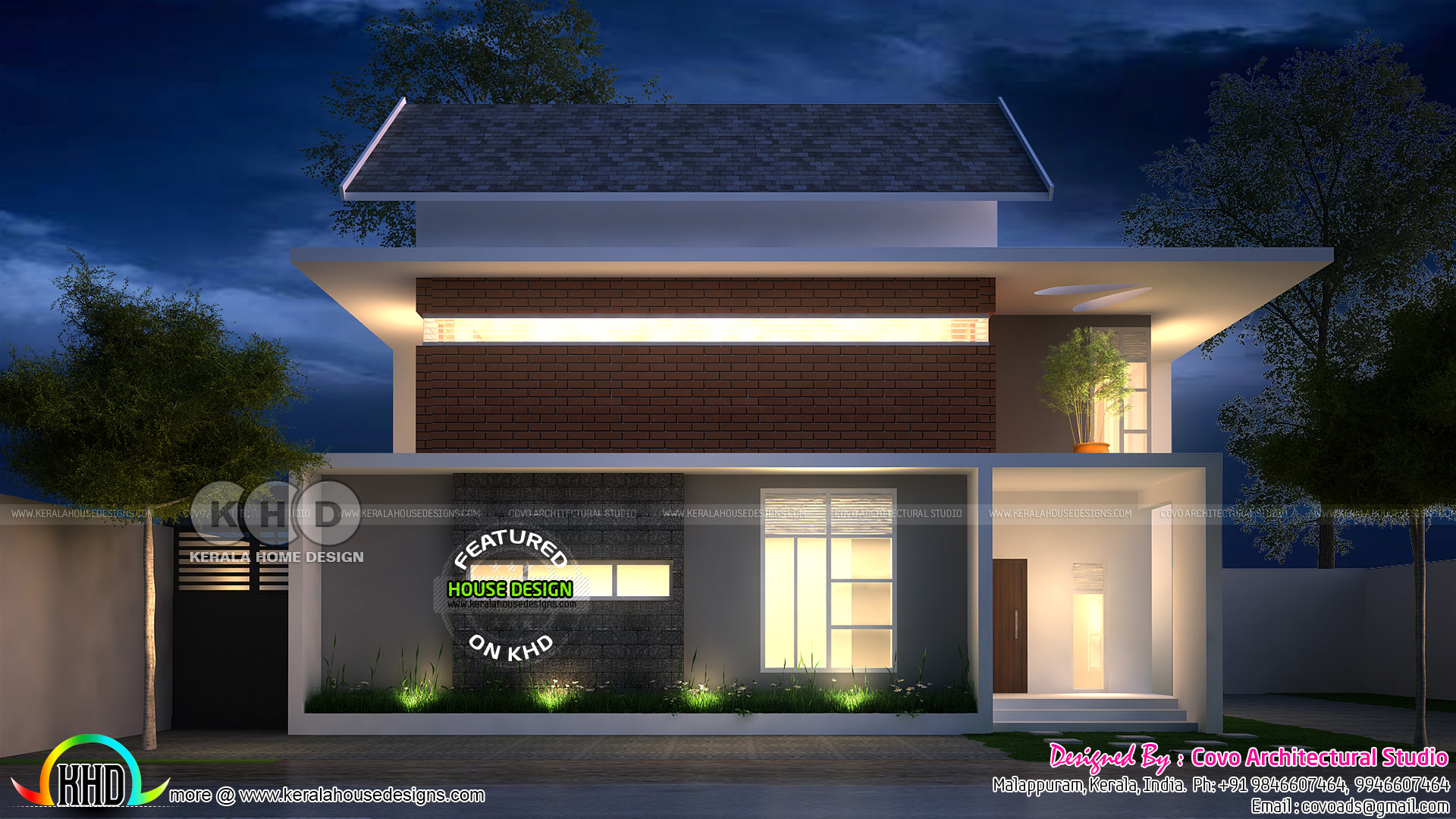 Kerala home design and floor plans 1900 square feet for 1900 sq ft house plans kerala