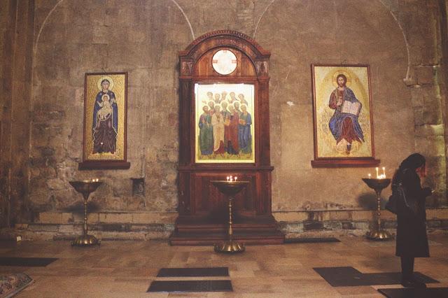 inside Svetitskhoveli Cathedral