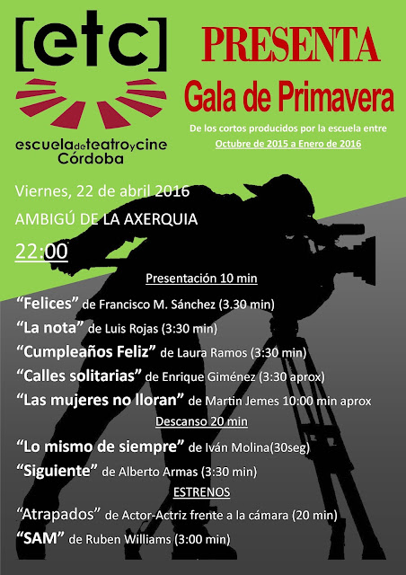 Gala de cine ETC de primavera