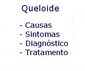 Queloide causas sintomas diagnóstico tratamento prevenção riscos complicações