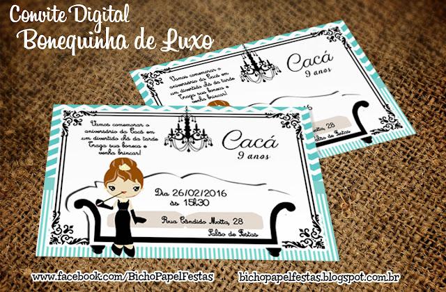 Convite Bonequinho de Luxo
