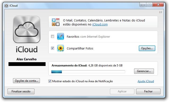 Painel de Controle iCloud v2 0 para Windows já está disponível para
