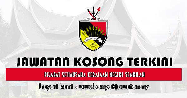 Jawatan Kosong 2019 di Pejabat Setiausaha Kerajaan Negeri Sembilan
