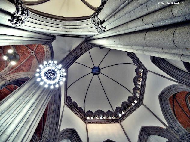 Detalhe arquitetônico da Abobada central da Catedral da Sé São Paulo