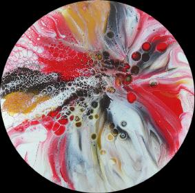 epoxy resin painting by HalfBakedArt