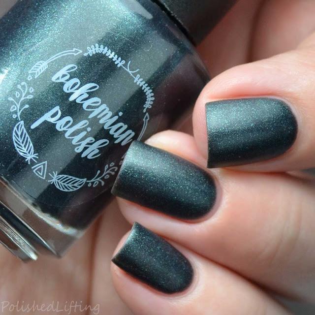 green matte nail polish