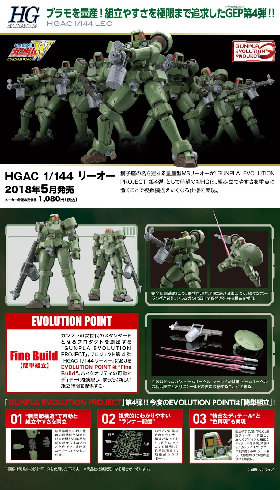 HGAC 1/144 OZ-06MS Leo - Release Info - Gundam Kits Collection News and Reviews