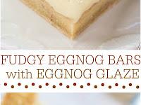 Fudgy Eggnog Bars with Eggnog Glaze Recipe