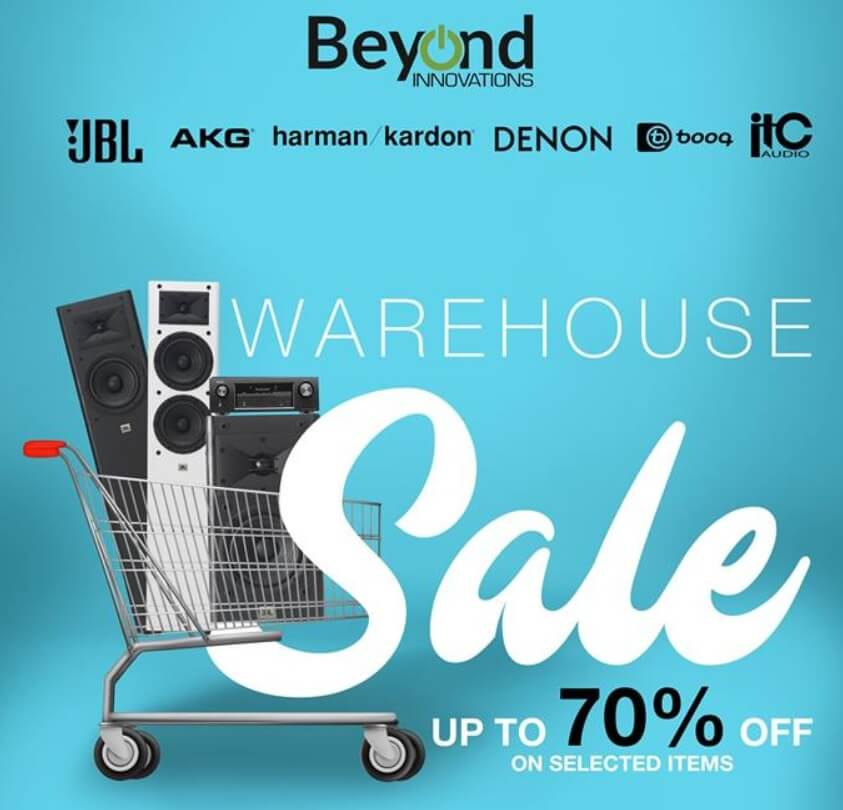 Beyond Innovations Warehouse Sale; Up To 70% Off on JBL, AKG, and More!