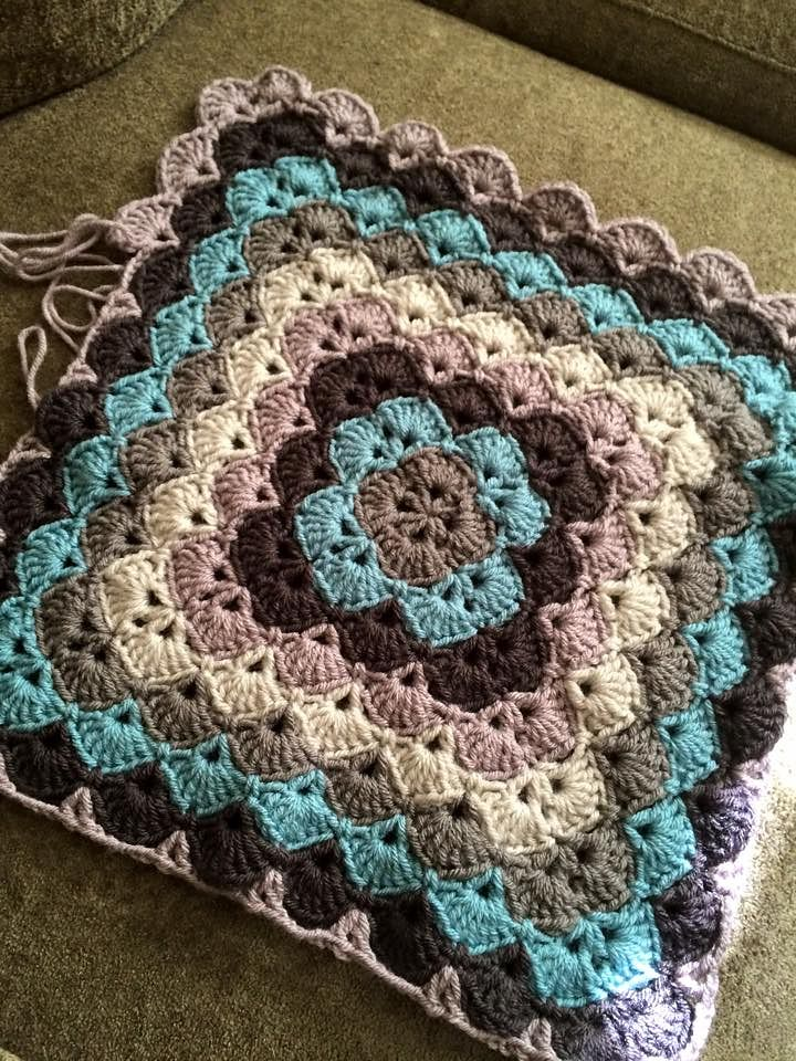 Diagram For Granny Square Crochet Stitch Lab Value Shell Baby Blanket ~ Yarn