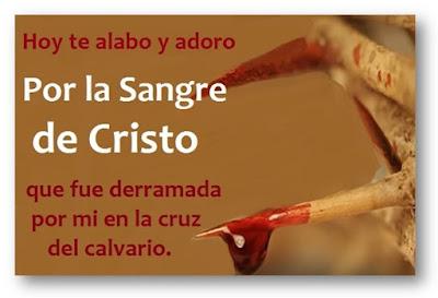 Oración de la Sangre de Cristo