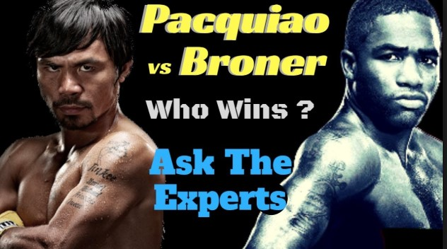 Manny Pacquiao and Adrien Broner trade