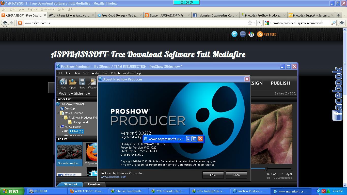 PHOTODEX V5.0.3310 PRODUCER FINAL PROSHOW TÉLÉCHARGER