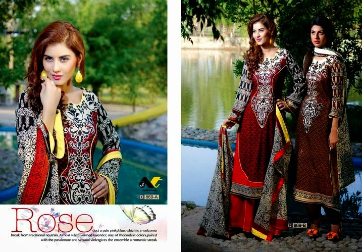 Latest Ajwa Unique Krinkle Chiffon 2014 for women