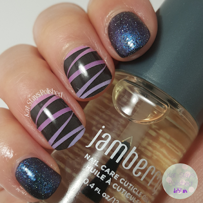 Jamberry Ribbon Dance | Picture Polish Gravity | Kat Stays Polished