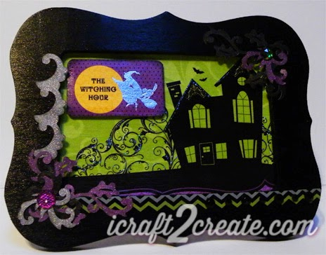 Halloween decor, Wooden Frame, Michael's, DCWV, SVGCuts